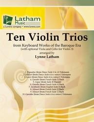 Ten Violin Trios: With Optional Viola And Cello For Violin 3