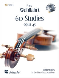 60 Studies: Op45: Position 1-3: Violin: Book and Demo Cd