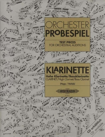 Test Pieces For Orchestral Auditions Clarinet (Orchester Probespiel) (Peters)