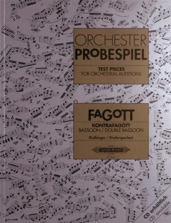 Test Pieces For Orchestral Auditions Bassoon (Orchester Probespiel) (Peters)