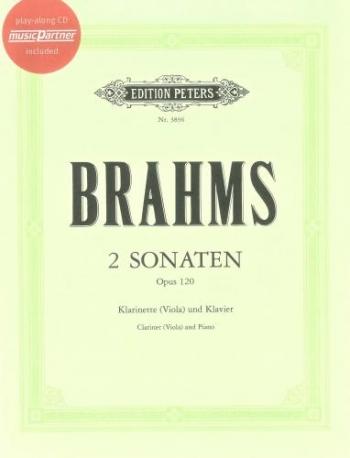 Clarinet Sonatas Op.120 1 & 2: Clarinet & Piano: Book & CD (Peters)