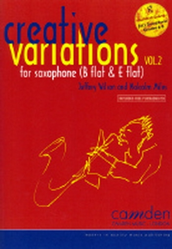 Creative Variations Vol.2 Alto Or Tenor Sax & Piano Book & CD (wilson & Miles