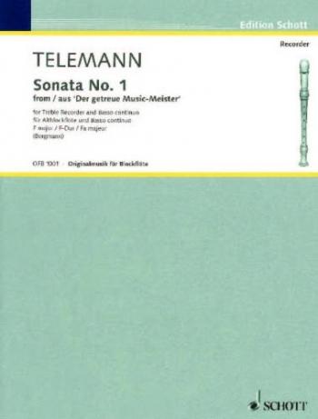 Sonata No1 F Major: Treble Recorder and Piano: Getreue Musikmeister