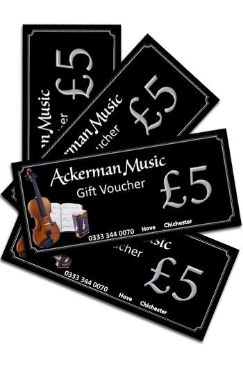 £5 Ackerman Music Gift Voucher