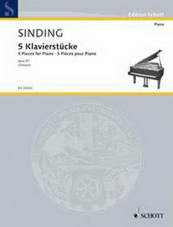 5 Klavierstuke Op.973: Piano (Schott Ed)