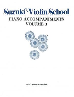 Suzuki Violin School Vol. 3 Violin Piano Accompaniment (Revised)