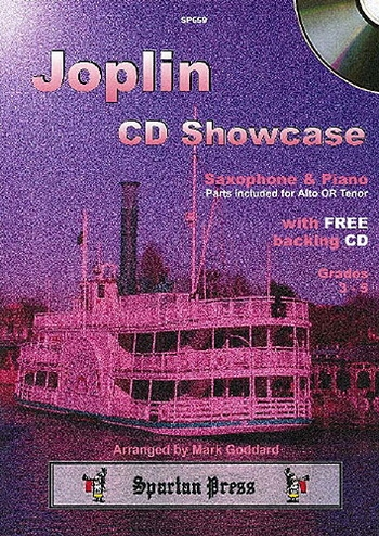 Scott Joplin Cd Showcase: Alto Or Tenor Saxophone and Piano