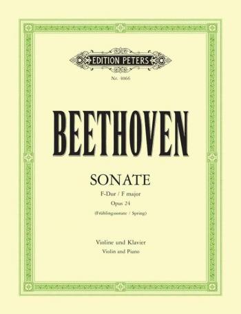 Violin Sonata Op24: Spring Sonata: Violin& Piano Book & Cd (Peters)