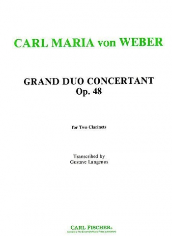 Grand Duo Concertant Op48: Clarinets