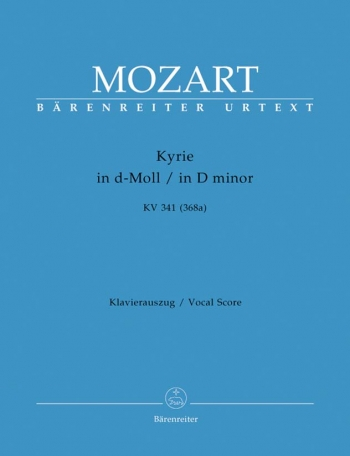Kyrie In D Minor: Kv341: Vocal Score (Barenreiter)