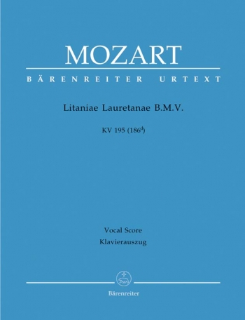 Litaniae Lauretanae  BMV: KV195: Vocal Score (Barenreiter)