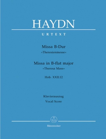 Missa Bb Major: Mass In Bb Major: Hob22 12: Vocal Score (Barenreiter)