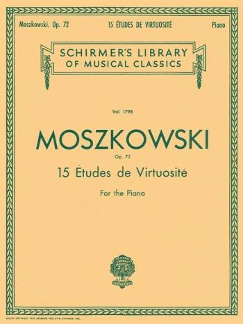 15 Etudes Virtuosite: Op.72: Piano (Schirmer)