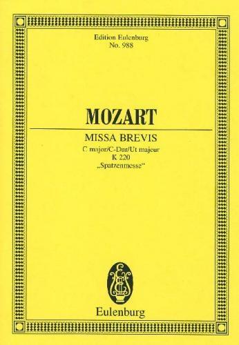 Mass In C Major: K220: Sparrow Mass: Miniature Score