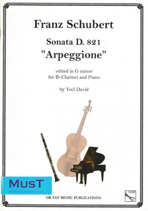 Clarinet Sonata: Arpeggione: D821: Clarinet & Piano