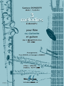 3 Melodies:Flute Or Clarinet And Guitar