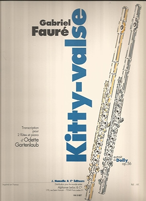 Kitty-valse From Dolly Suite Op56: Flute Duet