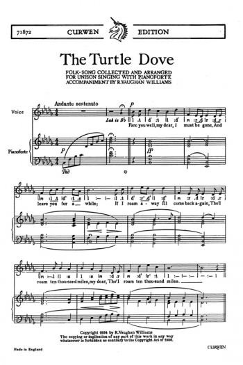 Turtle Dove: Solo Song and Piano