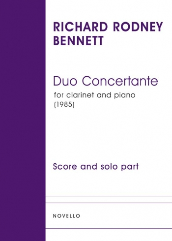 Duo Concertante  (1985): Clarinet & Piano (Novello)