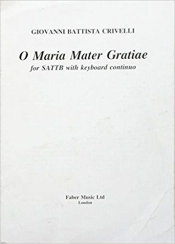 O Maria Mater Gratiae: Vocal Satb (Archive Copy)