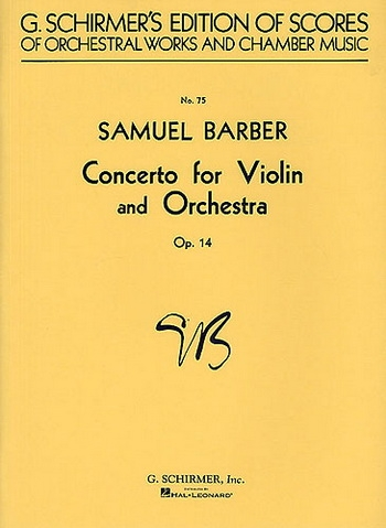 Concerto: Op14: Violin and Condensed Orch Score (Schirmer)