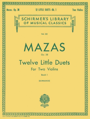 12 Little Duets Op38: Vol1: 1-6: Violin Duet