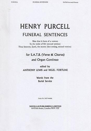 Funeral Sentences: Vocal Score