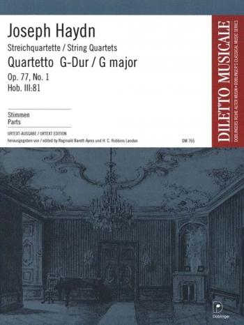 Haydn: String Quartet: Op 77 No1: String Quartet: Parts