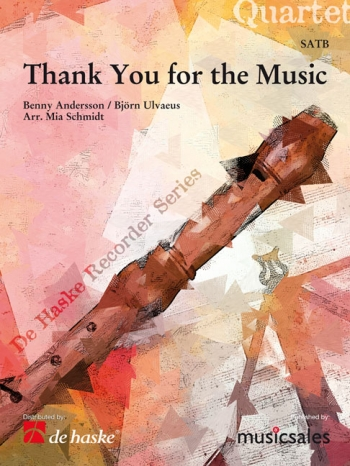Thank You For The Music: Recorder Ensemble: Score & Pts (Schmidt)