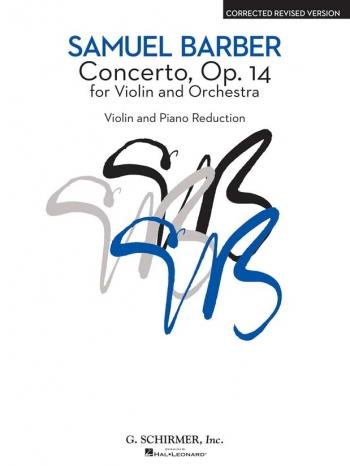Concerto: Op14: Violin & Piano (Schirmer)