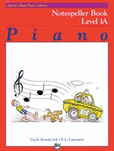 Alfred Basic Piano Notespeller Book: Level 1A