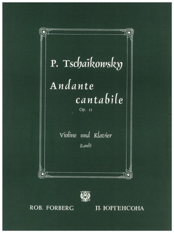 Andante Cantabile: Violin and Piano (Peters)