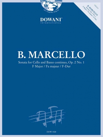 Sonata: Op 2: No1: F Major: Cello: Book & CD (Dowani)