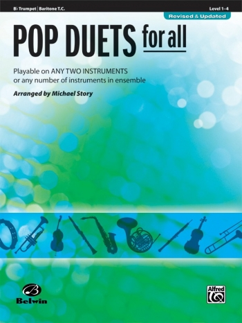 Pop Duets For All: Trumpet/Baritone TC: Level 1-4 : Revised And Updated (Arr Story)