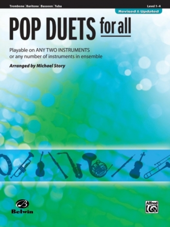 Pop Duets For All: Trombone/Baritone/Bass/Tuba B C: Level 1-4 : Revised And Updated
