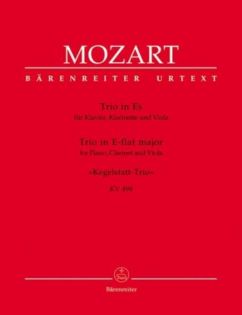 Trio Eb K498: Kegelstatt: Clarinet Viola & Piano