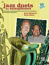 Jazz Duets For Saxophones: Interchangle Duet Parts For Eb and Bb Saxophones : Bookand Cd  (Eskovit
