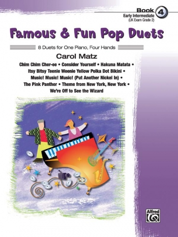 Famous and Fun Pop Duets Book 4: 8 Duets: 1 piano: 4 Hands