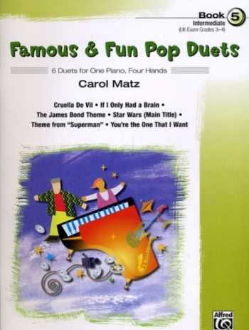 Famous and Fun Pop Duets Book 5: 6 Duets: 1 piano: 4 Hands
