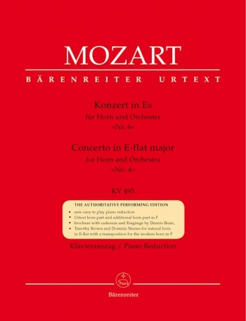Horn Concerto: No 4: Eb: K495: French Horn  (Barenreiter)