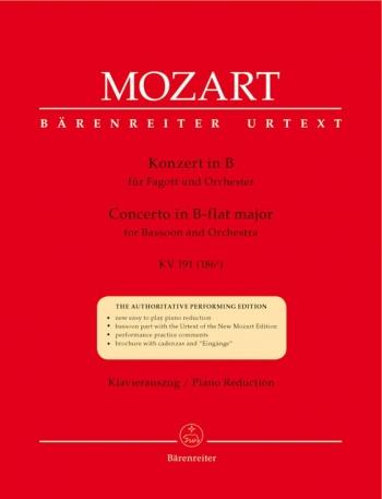 Bassoon Concerto Bb Major: Kv191: Bassoon & Piano (Barenreiter)