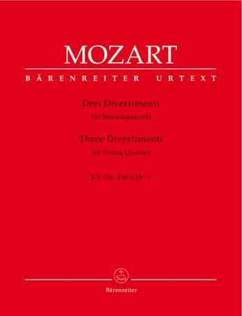 Mozart: 3 Divertimenti: String Quartet: Score and Parts