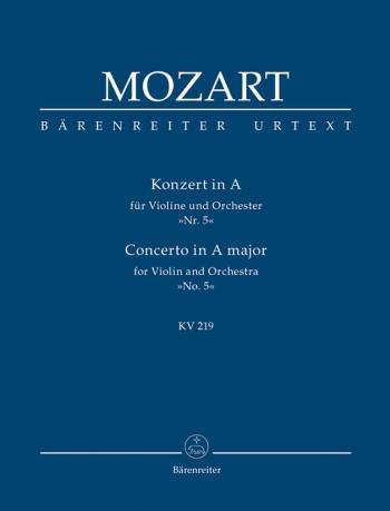 Violin Concerto No.5: A Major : Kv219 Study score (Barenreiter)