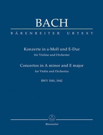 Violin Concertos In Aminor and E Major Study score (Barenreiter)