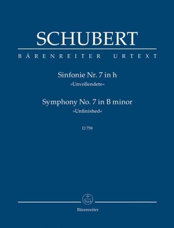 Symphony No.7: B Minor : Unfinished: D759Study score (Barenreiter)