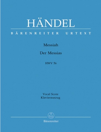 Messiah: Hwv56:  Vocal Score Urtext (Schneider)