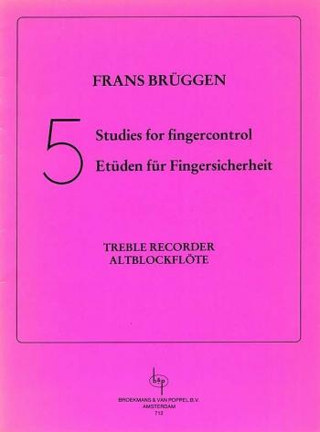 Five Studies For Finger Control: Treble Recorder