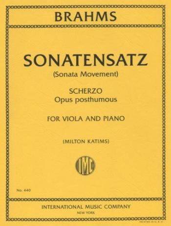 Sonatensatz and Scherzo: Viola and Piano (Or Violin)