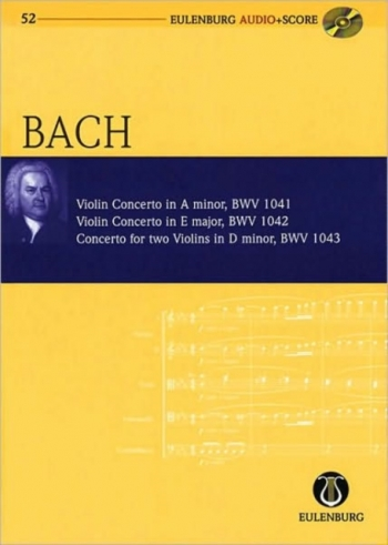 Violin Concertos: A Minor/E Major/D Minor (Audio Series No 52)