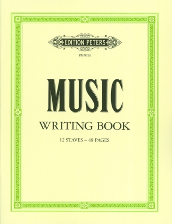 Manuscript - 12 Stave 48 Page - A4 - Peters (Music Writing Book)